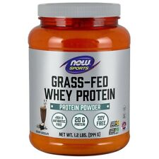 Now Foods Grass-Fed Whey Protein - Chocolate 1.2 Lbs FREE SHIPPING