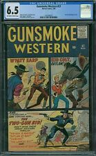 Gunsmoke Western 57 CGC 6.5 - OW/W Pages - Two Gun Kid Begins In Title