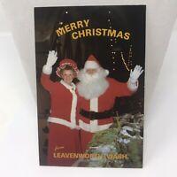 Vintage Postcard Levensworth Washington Merry Christmas Santa Claus Mrs Claus