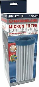 Marineland Micron Filter Cartridge Rite Size C Penguin RC-S 275 375 #AQ-78254