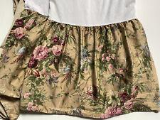 Rare! Ralph Lauren Tan *Adriana Queen Bed Skirt Dust Ruffle 17� Floral Euc
