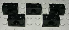 Lego Technic Lochstein 1x2 Schwarz 5 Stück                                (1555)