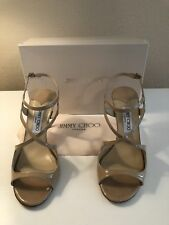 Women's JIMMY CHOO Paxton Style Nude Patent Sandals - EU 39/US 8.5-9