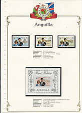 Anguilla Collection Lot of 8 Commemorative Sheets - CV$34.60++