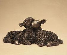 Twin Lambs Bronze SMALL - Veronica Ballan VB036 - Superb Gift - New