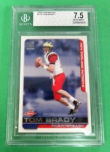 2000 Pacific Paramount TOM BRADY RC ROOKIE #138 BGS 7.5 Near Mint+  GOAT 7 RINGS