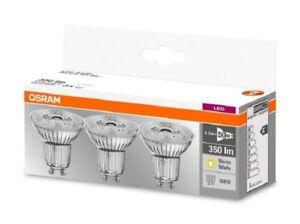 Set da 3 faretti LED Osram GU10  4,3W  - 50W  Luce Calda 2700k 350 lumen 230V