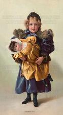 Victorian art girl doll 1898 print + free 5x7 photo, CHOICES 5x7 or request 8x10