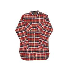 Mens Big For Sam Flannel Check Shirt FOG Kanye Bieber Lorenzo Size L BNWOT