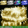 Decorative LED Fairy Light String 100-2000LEDs Garden Xmas Wedding Party Decor