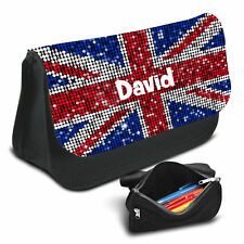 UK Flag Personalised Pencil Case Game School Bag Kids Stationary - 15