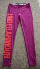 Brand New Under Armour W Favorite Women's Heat Gear Legging Size Medium, Pink