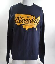 2014 NWOT MENS ELEMENT LIVE FREE OR DIE PULLOVER $45 M dark navy blue yellow usa