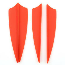 50 pcs 3'' Plastic Arrow Vane Fletching Wing for DIY Archery Bow Replacement Red
