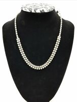 """Vintage Fashion Tennis Necklace 16"""" Costume/Prom"""