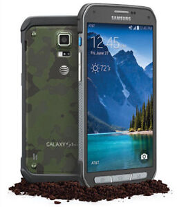 AT&T <Unlocked> Samsung Galaxy S5 Active G870A 16GB latest model Red/Gray/Green