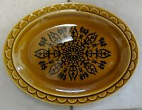 "Vintage Castilian Dinnerware Oval Serving Tray Plate Made in USA - 11.5""x9"" EUC"