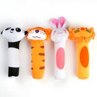 For Newborn Baby Toys Soft Sound Animal Handbells Plush Squeeze Rattle Multi