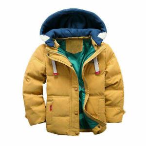 Kinder Mädchen Winter Warm jacke Mantel Stepp Winter Mantel Kapuze Dicker