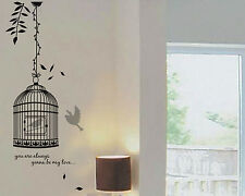 Birds House Birdcage Room Home Decor Removable Wall Stickers Decals Decorations
