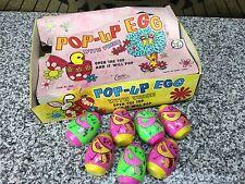 (7) MIB Unused Easter Unlimited Chirping Pop-Up Vintage Plastic Peep Eggs & Box