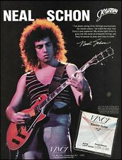 Journey Neal Schon 1982 Vinci Strings on Gibson Les Paul guitar 8 x 11 ad print