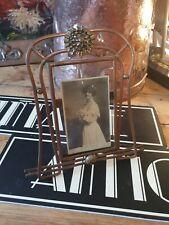 Antique jugendstil Arts and Crafts art nouveau asethetic copper photo frame