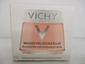 VICHY DOUBLE GLOW PEEL MASK VOLCANIC ROCK & AHA 2.53 OZ EACH EXP:12/22  BB 3988