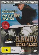DVD DOUBLE FEATURE - ONE-EYED JACKS & RANDY RIDES ALONE - MARLON BRANDO -