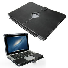 """Smart noires en simili cuir étui pour Apple MacBook Pro 13 """"avec cut out"""