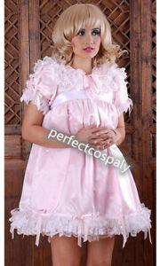 Sissy ~ maid ~ adult baby ~ neuter ~CD/ TV pink satin and organza !
