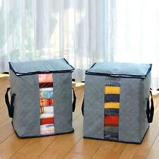 Bamboo Charcoal Clothes Storage Case Box Holder Bags Gray HP