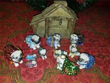 2007 Heavenly Paws Christmas Nativity Collection Pug Dog Figures Complete Coa