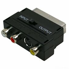 SCART a 3 RCA Phono SVHS S-Video Convertitore Adattatore Interruttore XBOX ps2/3/4 WII