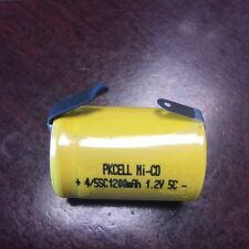 4x PKCELL Ni-CD 4/5SC  1.2V 1200mAh Sub C Rechargeable Battery with Tab NiCd