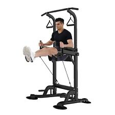 US Dip Station Chin Up Bar Power Tower Pull Push Home Gym Fitness Core Equipment