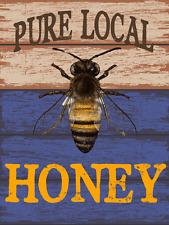 Sun Protected Local Honey Metal Sign, Bee, Rustic Décor, Kichen Décor