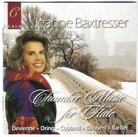 JEANNE BAXTRESSER Chamber Music For Flute CD cala Devienne DRING copland GAUBERT