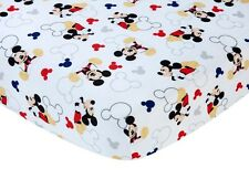 NEW DISNEY BABY MICKEY MOUSE LET'S GO MICKEY CRIB FITTED SHEET.