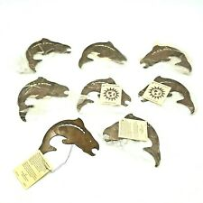 Decor Set of 8 Metal Fish Bass Fishing Fisherman Gift Ornaments Decoration