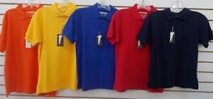 Boys Universal School Uniform Assorted Colors Polo Shirts Sizes 6 - 18