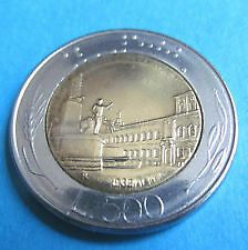 500 Lira (Bimetal) Coin - 1987 - Republica Italiana - Collectable