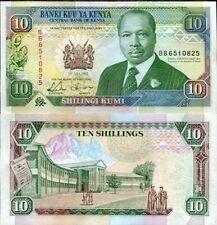 Kenya 10 Shillings, 1990, P-24, UNC, Banknotes