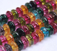 "5x8mm Multicolor Tourmaline Gemstones Abacus Loose Beads 15"" Strand AAA"