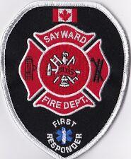 Sayward Fire Dept. First Responder Canada Firefighter Patch NEW!!