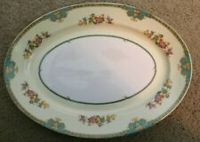 "Vintage MEITO China ""MADRID"" pattern Oval Serving Platter - 13.5"""
