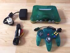 Nintendo 64 Games Console Clear/Aqua * READY TO PLAY * RARE Retro N64