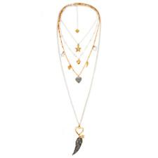 Bibi Bijoux 4 tier silver & gold plated swarovski necklace & gift pouch
