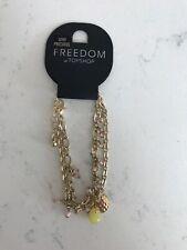 Brand New Topshop Semi Precious Stone Charm Bracelet