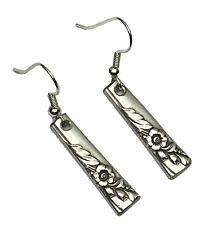 Spoon Earrings 1950 Oneida Bridal Wreath Vintage Antique Silverplate Jewelry